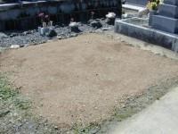 墓石回収撤去工事後